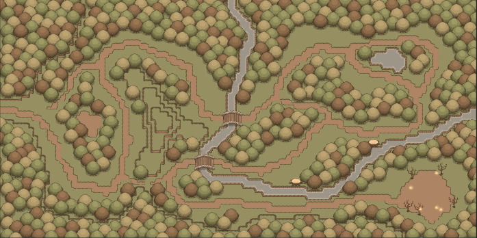 Map The Charred Forest