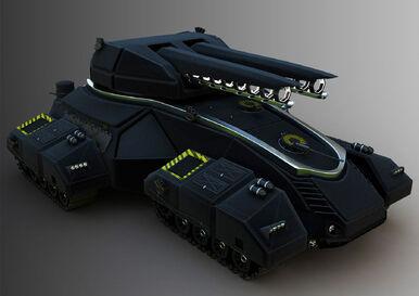 Diogo valle bittar hovertank futuristic future battle tank concept art design railgun rail gun EMP blaster cannon war dsng marvel sci fi suv video game