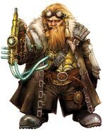 675x836 10097 Tech Dwarf 2d fantasy dwarf portrait steampunk tech picture image digital art