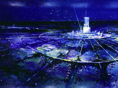 Epcot city at night