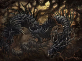 Nidhogg chewing on Yggdrasil