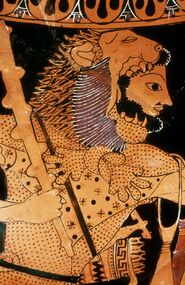 Heracles wearing the Nemean Lion's hide