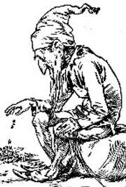 Leprechaun engraving 1900