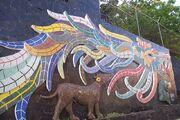 Quetzalcoatl Mural in Acapulco, Mexico