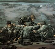 Edward Burne-Jones - Perseus and the Graiae, 1892