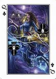Playing Cards card Queen of Clubs