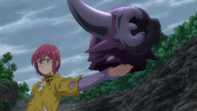 File:Gowther presenting the Armor Giant's head to Dawn Roar.png