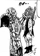 Ruin grabbed Meliodas for the head