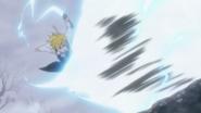 Meliodas returning Gilthunder attack