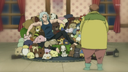 Younger Ban stealing stuffed animals