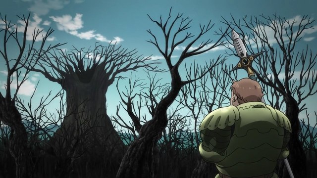 File:King returning to the Fairy Forest to see it burned.png