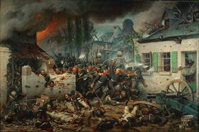Attack on Plancenoit by Prussian Divisions