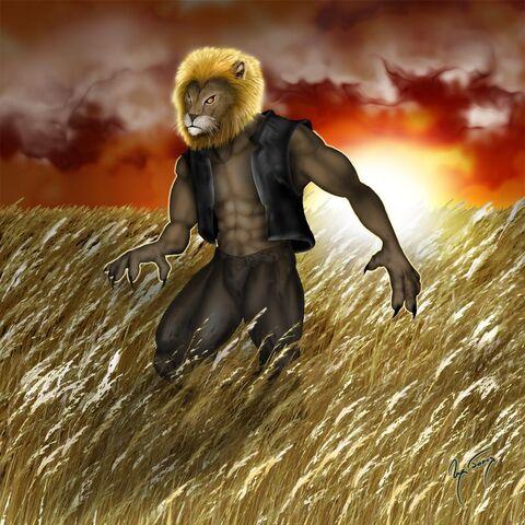 File:Anthropomorphic Lion by hwango.jpg