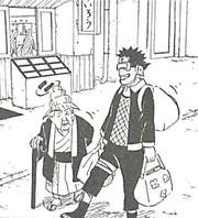 Obito escorting an elderly woman