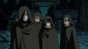Orochimaru, Sasuke, Jūgo and Suigetsu arrive