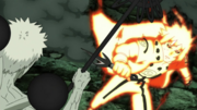 Minato clashes with Obito