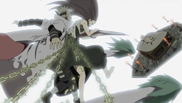 پرونده:Minato and Kushina protect Naruto.png