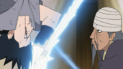 Mifune and Sasuke clash