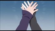 Mitsuki and Sarada High Five