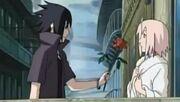Sasuke gives sakura a rose by morganlovesnaruto-d5634qb