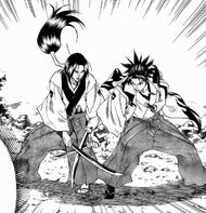 Raian sparing with Mashu
