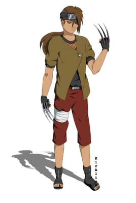 Naruto OC Kaito Ookami By KirAlien