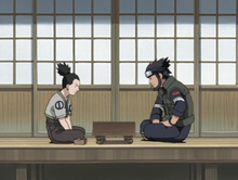 Shikamaru playing shougi