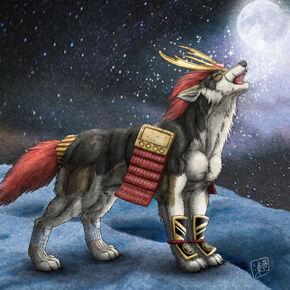 Wolf Howl Samurai Boy by derSheltie