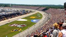 2014 quicken loans 400 from the grand stands