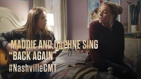 "NASHVILLE on CMT Maddie and Daphne Sing ""Back Again"""