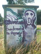 Graffito Condemned to Agony