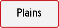 Plains sign