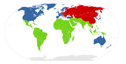 First second third worlds map