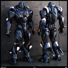 The primary Eldarian unit, notice the glowing segments- they harness the high energy electro-plasma that powered and armed the suit.