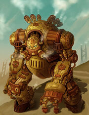 Steampunk robot warrior groxx by arm01-d8esv2n