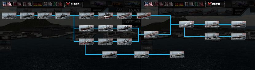 USN ship tree