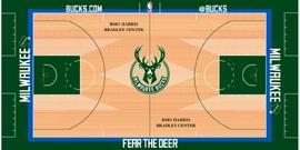 Milwaukee Bucks court logo