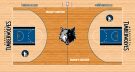 Minnesota Timberwolves court logo