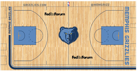 Memphis Grizzlies court logo