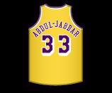 File:Kareem Abdul-Jabbar home jersey Lakers.png