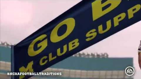 NCAA Football 12 Michigan Wolverines TEAM Entrance FIRST LOOK!