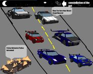 Extreme chase of illegal street racing of need for madness car series