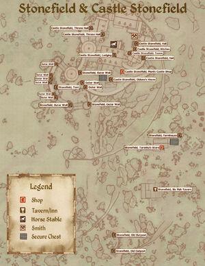 Castle Stonefield Map