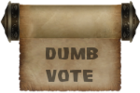 Award-Dumbest Vote
