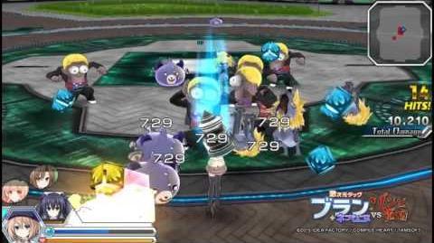 """PS Vita「激次元タッグ ブラン+ネプテューヌVSゾンビ軍団」""""ブラン""""プレイ動画"""