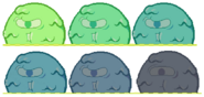 Giant slime colour changes