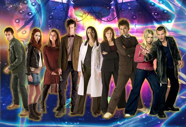 File:Doctorwho doctor ninth tenth eleveth companions by ferrlm-d5n7dcx.jpg