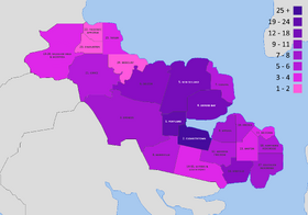 Map of election districts per province of Granida