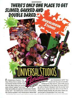 Nickelodeon Magazine Holiday 1993 Universal Studios Florida advertisement high res