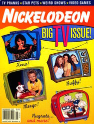 Nickelodeon magazine cover november 1997 tv issue
